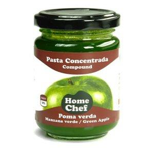 Manzana verde en pasta