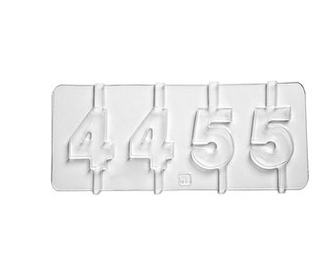 molde numeros 4 5