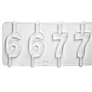 molde numeros 6 7